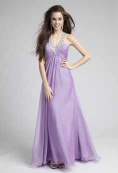 Prom Dresses 2013 - Irridescent Chiffon Beaded Halter Prom Dress from Camille La Vie and Group USA