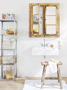 aus alt mach neu verwandlung eines fensters badezimmer spiegelschrankbadezimmer rustikalwohnzimmerspiegelschrank