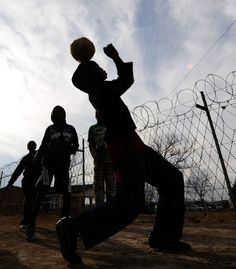 South African Kids Play Street Football
