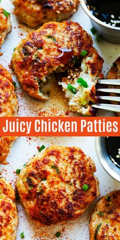 Chicken Patties Chicken Patties - juicy chicken patty recipe with teriyaki sauce. One of the best ground chicken recipes ever! So good and even the pickiest eaters love them. Chicken Patty Recipes, Recipes For Ground Chicken, Recipe Chicken, Healthy Chicken Patty Recipe, Asian Chicken Burger Recipe, Chicken Recipes With Sauce, Minced Chicken Recipes, Keto Chicken, Fried Chicken