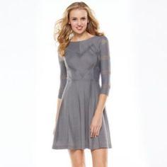 LC Lauren Conrad Textured Fit & Flare Dress - Women's