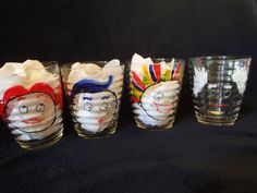 Large Tumblers with Kids Faces  Hand Painted by Dupasseaupresent