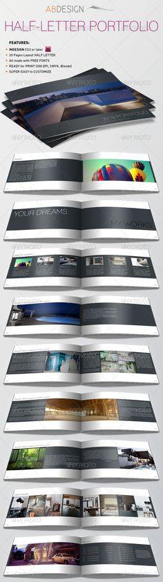 Half-Letter Portfolio & Resume Template - Portfolio Brochures