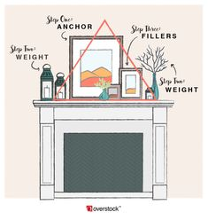 Here are 9 Fixer Upper fireplace mantel decor ideas you can create on a budget. - Here are 9 Fixer Upper fireplace mantel decor ideas you can create on a budget…which will you cho - Home Staging, Mantel Shelf, Easy Home Decor, Spring Home Decor, Fashion Room, Home Living Room, Apartment Living, Family Room, New Homes