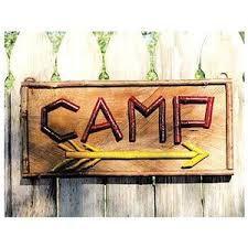 Image result for wood camp sign