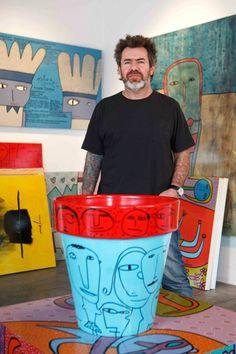 milo lockett - Buscar con Google Outsider Art, Red Cross, Art Studios, Artist At Work, Find Art, Street Art, Diy, Pottery, Buenas Ideas