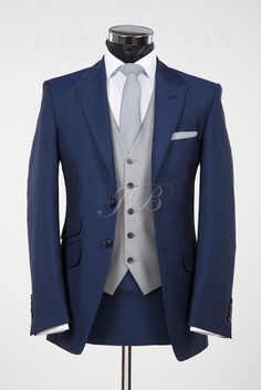 The York, blue wedding suit hire from Jack Bunneys