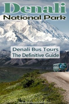 The only way to get deep into Denali National Park (Alaska): Shuttle or Tour Bus! Read our complete guide with insider bus tips, hiking tips, season tips (summer, winter, fall, spring). #denali #alaska #hiking #bus #bustour