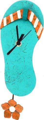 Flip Flop / Beach Sandal Wall Clock - Handmade Artistry by Oxidos, http://www.amazon.com/dp/B00C7CUMIY/ref=cm_sw_r_pi_dp_Z-h2rb0RNVZED