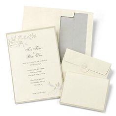 Ivory With Taupe and Grey Floral Design - DIY Wedding Invitations Kit - Package of 50 HBH http://www.amazon.com/dp/B00LEUBUDG/ref=cm_sw_r_pi_dp_TFvUtb1S7AH8E9N6