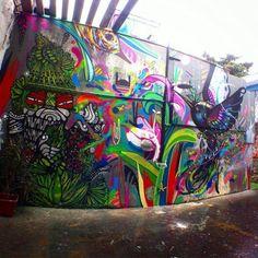Estúdio de grafiteiros preserva o Beco do Batman