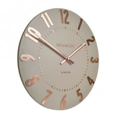 "Mulberry 12"" Wall Clock - Rose Gold"