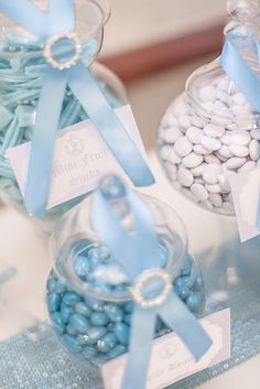 Gorgeous candy jars at a Cinderella girl birthday party!