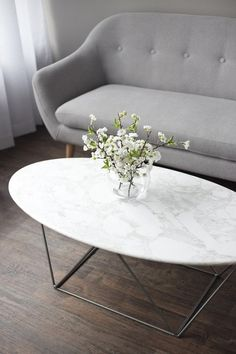 Marco Marble Oval Coffee Table