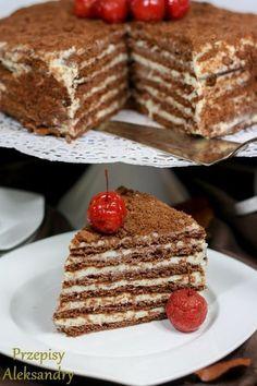 Przepisy Aleksandry: TORT SPARTAK (czekoladowo-serowy)