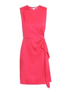 Exude sophisticated womanly allure in this pink Alba dress by DVF