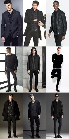 Men's All-Black Outfits & Dark, Edgy Clothing Lookbook