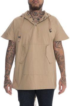 Fairplay Brand Sweatshirt Koda Sleeveless Anorak Natural Brown