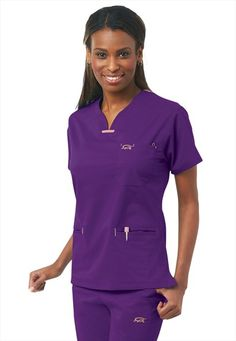 IguanaMed quattro scrub top.  Because purple makes me happy...