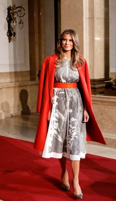First Lady Melania Trump arrives at the townhall during the leaders summit in Hamburg, Germany July REUTERS/Axel Schmidt - First Lady Of Usa, Melania Knauss Trump, Malania Trump, First Lady Melania Trump, Trump Melania, High Fashion, Womens Fashion, Fashion Wear, Modest Fashion