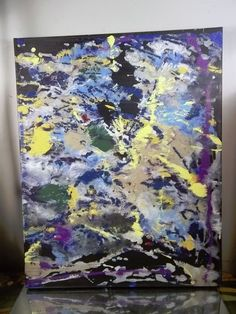 CANVAS Authentic Painting  BY MUSK YAI 16x20 ABSTRACT 1 of a kind ~2014 #WILD