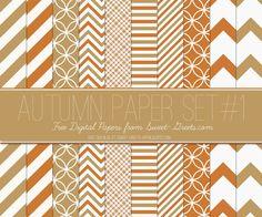 Just Peachy Designs: Free Autumn Colors Digital Paper Set