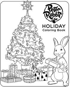 get in the holiday spirit with this peter rabbit holiday coloring book
