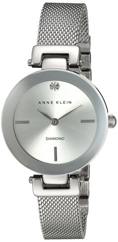 Anne Klein Women's Quartz Metal and Stainless Steel Dress Watch, Color:Silver-Toned (Model: AK/2473SVSV) ** Click image for more details.