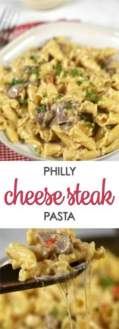This recipe is a fun twist on the best Philly Cheese Steak recipe. It's easy to make and incredibly delicious. You have to try this Philly Cheese Steak Pasta. #ad #BertolliOrganic