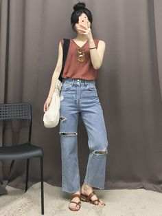 마리쉬♥패션 트렌드북! Korean Girl Fashion, Korean Fashion Trends, Korean Street Fashion, Ulzzang Fashion, Korea Fashion, Kpop Fashion, Asian Fashion, Chic Outfits, Summer Outfits