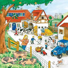 Name all the farm animals in this picture. Spanish Lessons, Teaching Spanish, English Lessons, Teaching English, French Lessons, Education English, Speech Language Therapy, Speech And Language, Speech Therapy