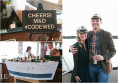 Home to the groom, this Wisconsin property was a perfect venue for this couple's special day. #LakeWedding #NauticalDecor #WisconsinWedding - Christy Tyler Photography