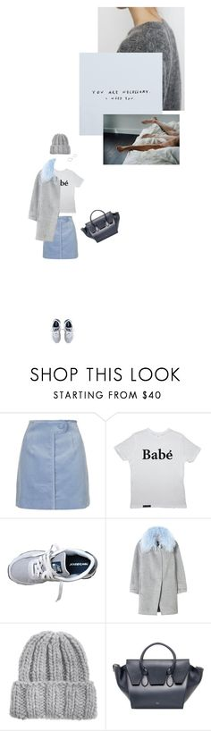 """""""pretty sleeper"""" by loub917 ❤ liked on Polyvore featuring Topshop, New Balance, Rebecca Taylor, KISS by Fiona Bennett, CÉLINE and Repossi"""
