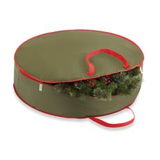 """Real Simple Holiday Wreath Storage Bag (up to 30"""" diameter) $12.99"""