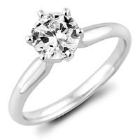 0.96 ct. Round Diamond Solitaire Ring in 18k White Gold with Platinum Head (H, VS2) - Sam's Club