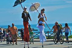 Santa Cruz open streets had stilt walkers, what will we have in Santa Barbara? (courtesy photo) Leapfrog over to Santa Barbara Open Streets on Saturday to find out. http://sbseasons.com/blog/leapfrog-streets-saturday/ #sbseasons #sb #santabarbara #SBOpenStreets To subscribe visit sbseasons.com/subscribe.html