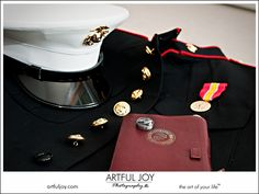 Marine Wedding with Dress Blues - must be a boot - only one ribbon