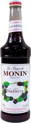 MONIN BLACKBERRY SYRUP, 750 ML Bottle Monin