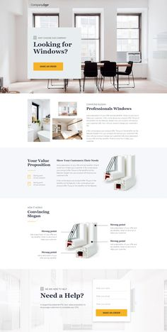 This clean landing page template will help you convert visitors with great design and quality photos. Add powerful copy and convincing CTA to sell more! Page Layout Design, Website Design Layout, Website Design Inspiration, Homepage Design, Website Designs, Landing Page Design, Design Sites, Ui Ux Design, Flat Design