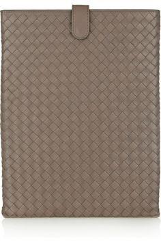 Bottega Veneta|Intrecciato leather iPad sleeve|NET-A-PORTER.COM