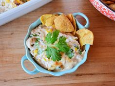 Get Easy Corn Dip Recipe from Food Network Appetizer Dips, Appetizer Recipes, Snack Recipes, Cooking Recipes, Yummy Appetizers, Dinner Recipes, Sandwich Recipes, Vegetarian Recipes, Corn Dip Recipes
