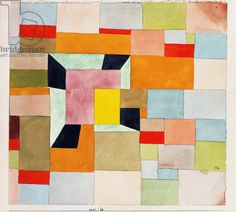 Paul Klee - Split Coloured Rectangles; Aufgeteilte Farbvierecke, 1921 (watercolour and pencil on paper)