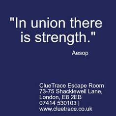 """In Union There Is Strength.""  http://wu.to/07V8xg  #TeamBuilding #Leadership #Business #London"
