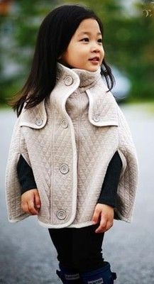 Quilted Cape--looks so snuggly! Mom size please!