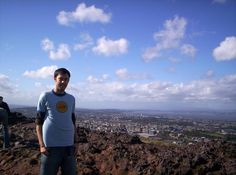 On top of Arthur's Seat, Edinburgh. Wind was nuts!