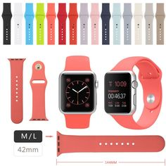 Multicolor Silicone Bands for Apple Watch   15 Colors