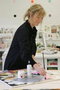 textures shapes and color: Let's Visit a Studio in Denmark! the studio of Danish artist and architect Line Juhl Hansen.