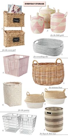 Baskets and Hampers  | Get storage organized | http://monikahibbs.com