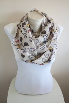 Neko Atsume Scarf Animal Scarf Cat Infinity Scarf Handmade Women Birthday Gifts Gift for Her Christmas Gifts Winter Accessories by dreamexpress from dreamexpress on Etsy. Find it now at http://ift.tt/2cuHURU!