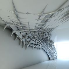 Sculptural wall installation...Project of Zaha Hadid for interior design